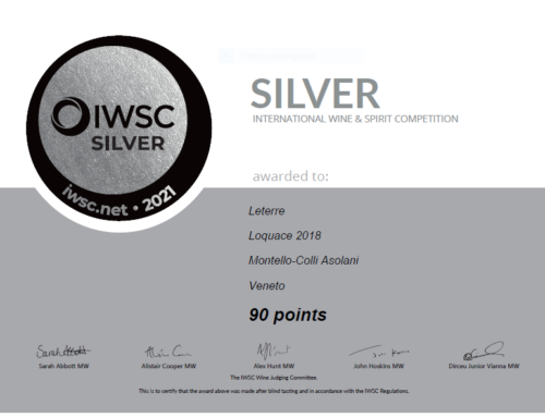 SILVER MEDAL IWSC 2021 – ROSSO LOQUACE DOC 2018